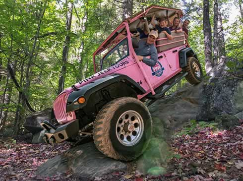 Pink Jeep Tours of the Smoky Mountains