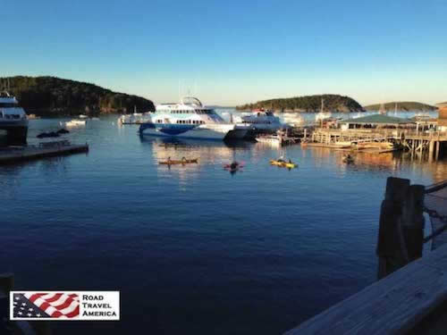 A quiet scene in downtown Bar Harbor
