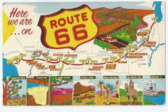 map of route 66 the main street of america
