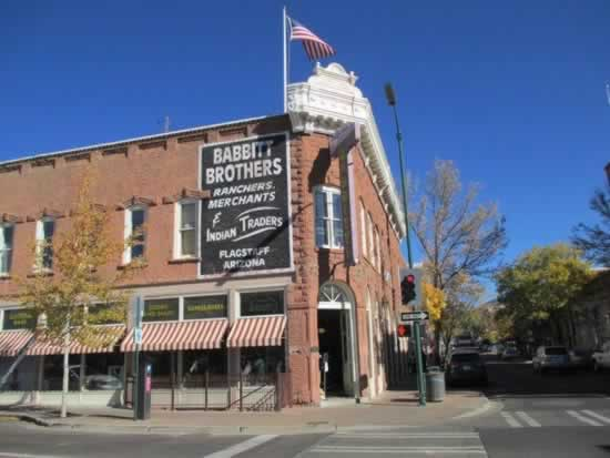Street scene in historic downtown Flagstaff