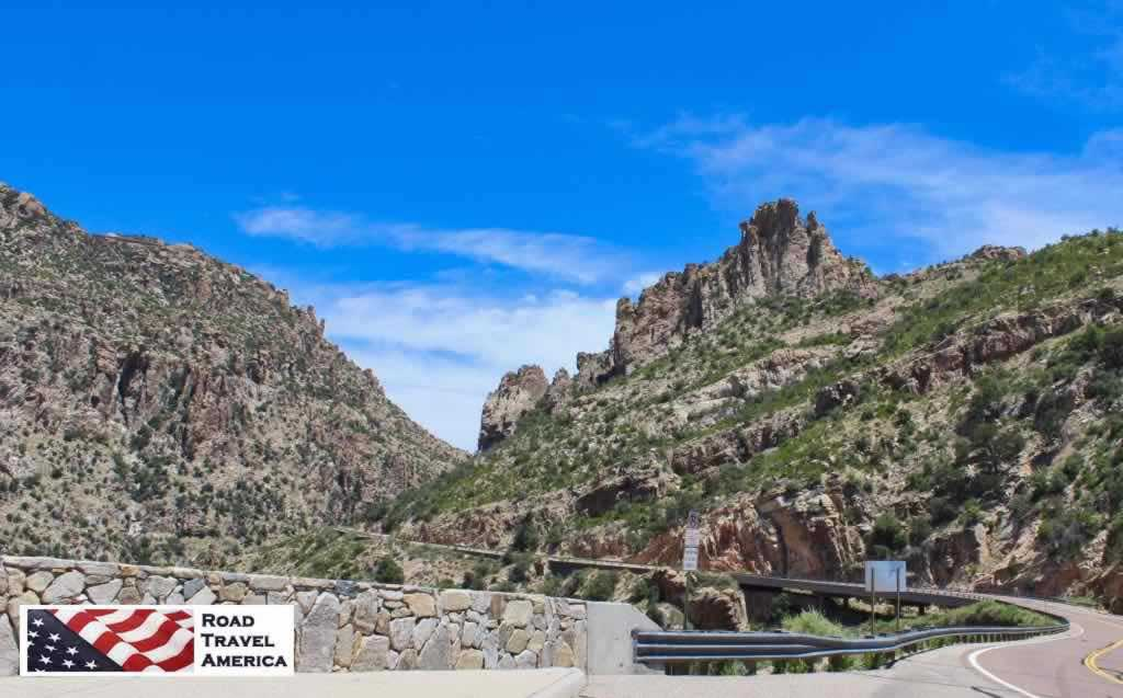 Climbing up the Mount Lemmon Scenic Byway