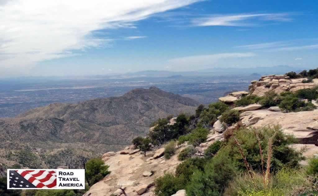 View of the greater Tucson area from the top of Mount Lemmon