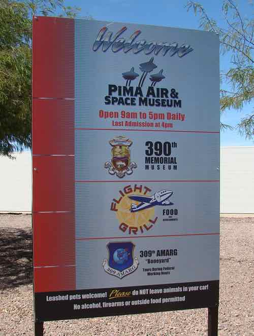 Pima Air and Space Museum in Tucson