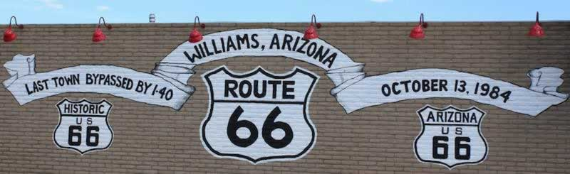 Williams, Arizona mural ... Last town bypassed by I-40