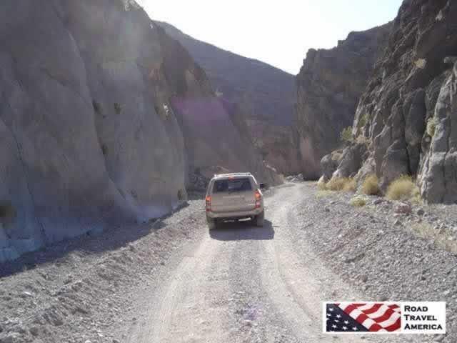 Driving the dirt roads in Death Valley