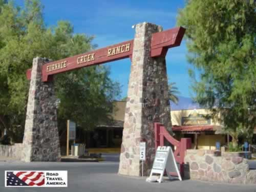 Entrance to Furnace Creek Ranch in Death Valley National Park