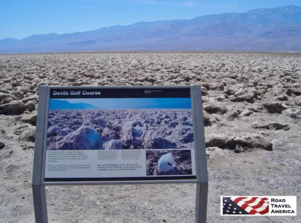 The Devils Golf Course in Death Valley National Park in California
