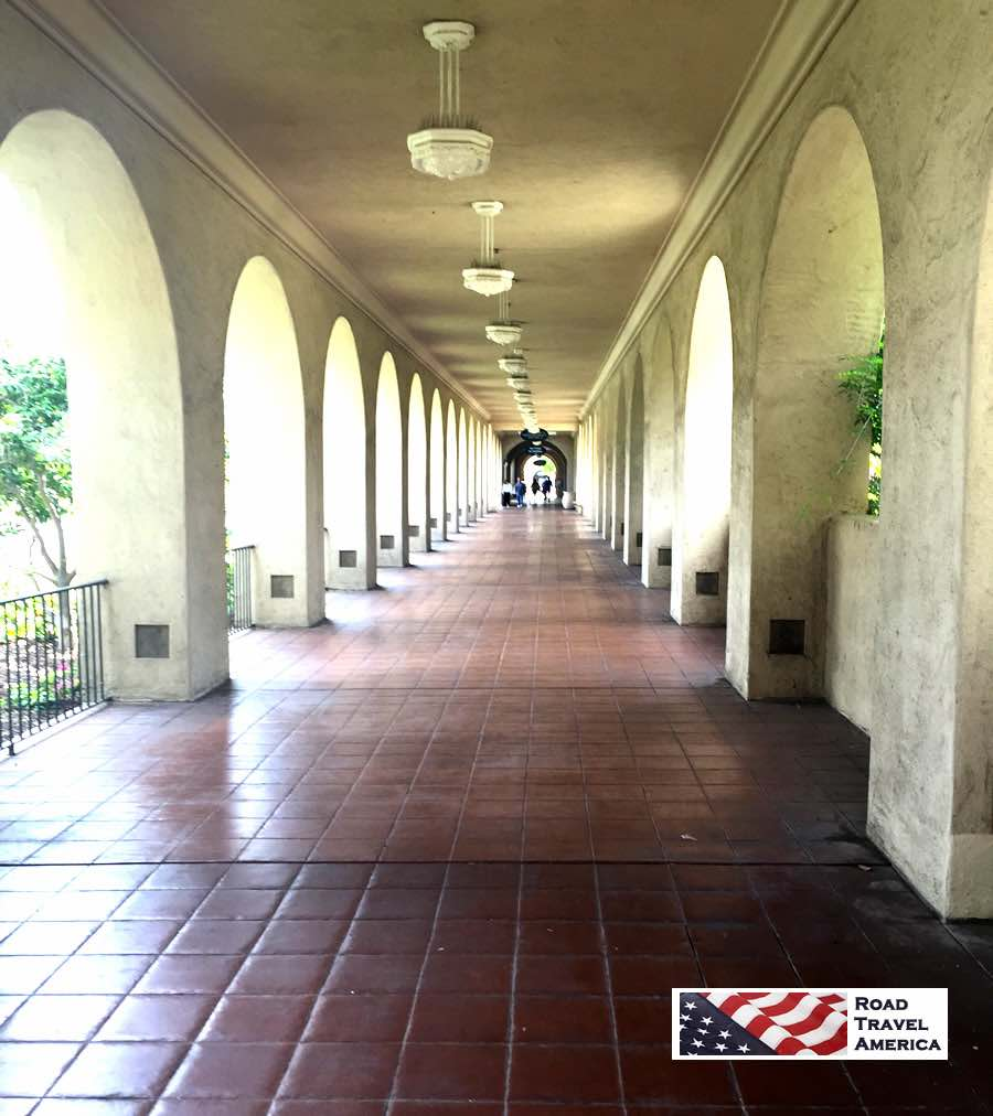 Historic archways at Balboa Park