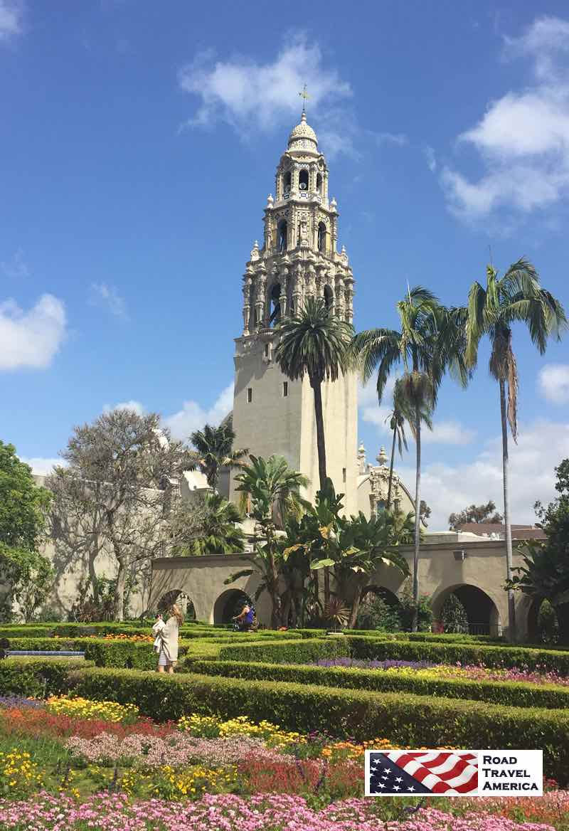 The lush gardens at Balboa Park in San Diego