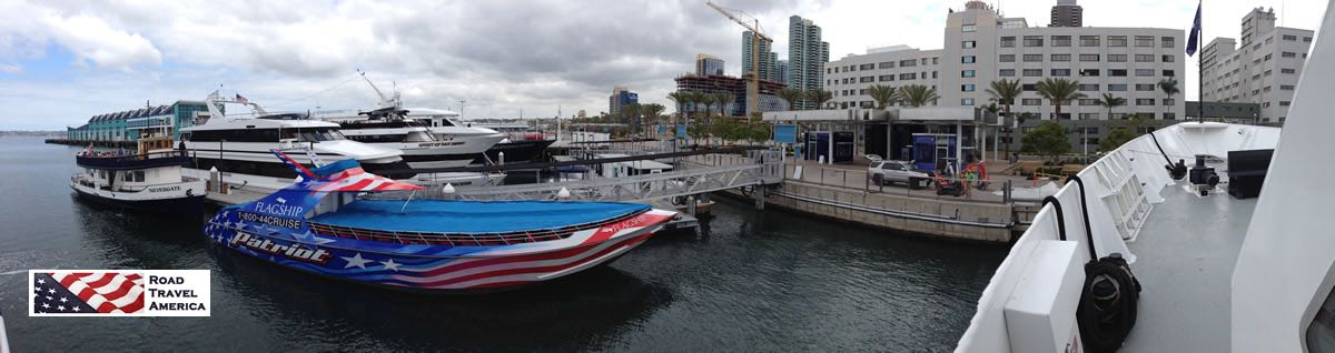 Boats along the waterfront, San Diego harbor