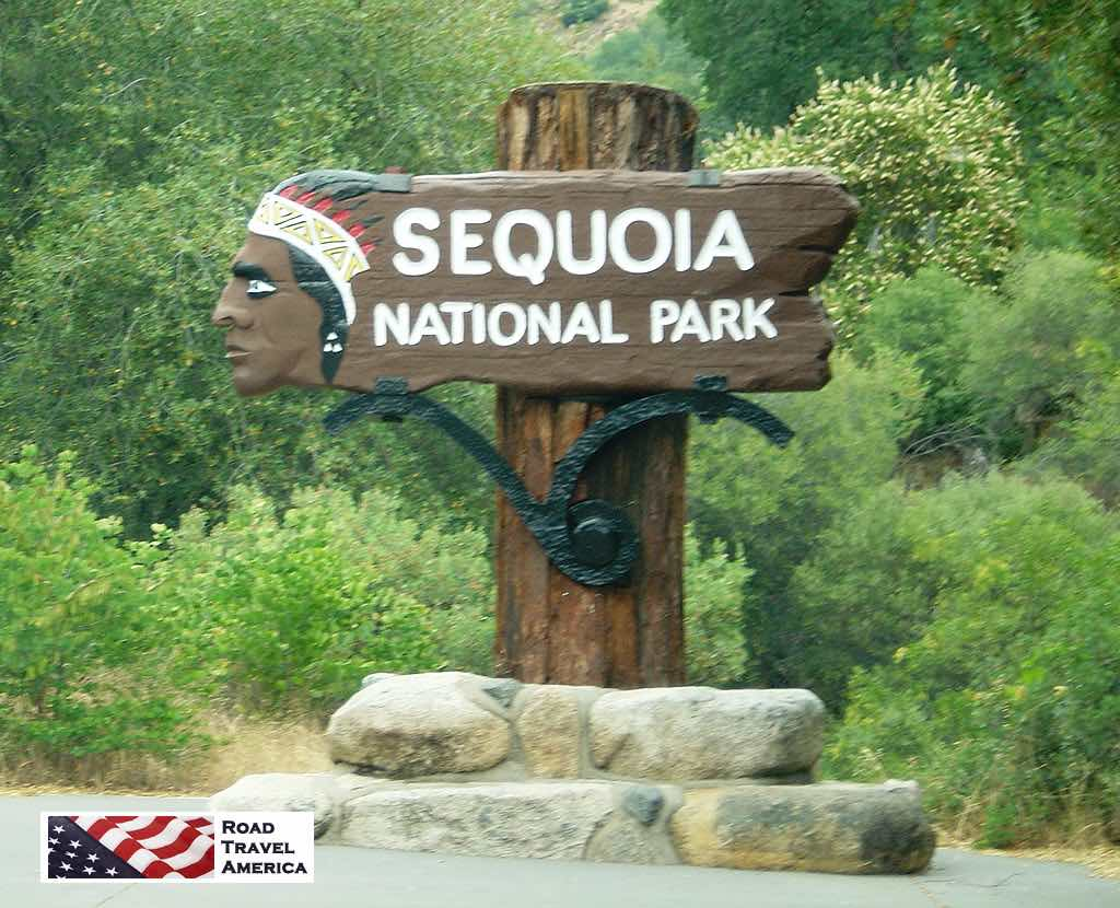 Entrance area to Sequoia National Park in California