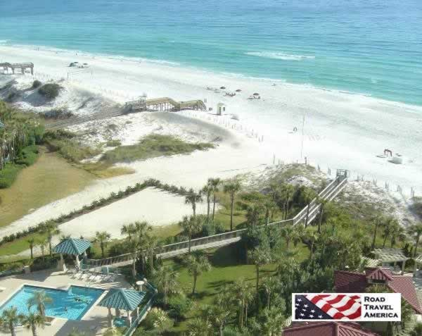 View of the beautiful Gulf beaches to the east from Sandestin's Westwinds Condominiums