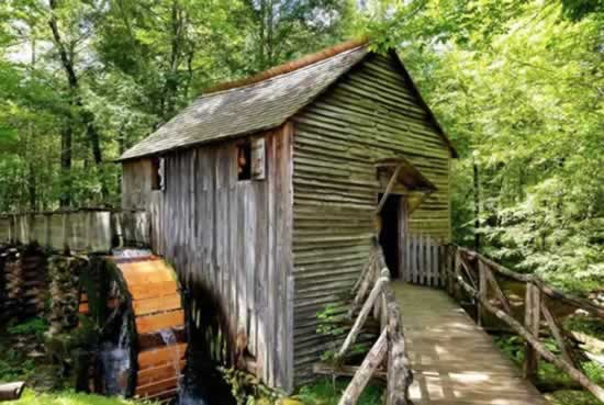 Cades Cove Grist Mill ... A popular stop in the Great Smoky Mountains National Park
