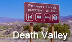 Death Valley National Park in California, location, directions, maps, things to do, photographs
