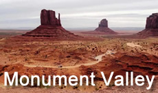 Monument Valley Navajo Tribal Park is located in extreme southeastern Utah, on the northern border of Arizona