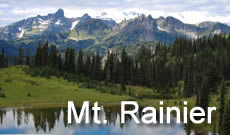 Mount Rainier National Park travel, directions, maps, lodging and things to do