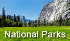 List of popular national parks, with reviews,maps and photographs
