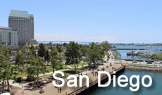 San Diego in Southern California ... popular destination with its year-round mild climate