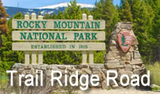 Trail Ridge Road is a paved, 48 mile long scenic highway in Rocky Mountain National Park in Colorado