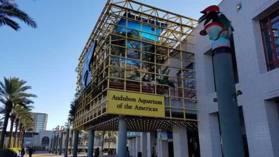 The Audubon Aquarium of the Americas in New Orleans