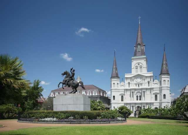Jackson Square and St. Louis Cathedral in the New Orleans French Quarter