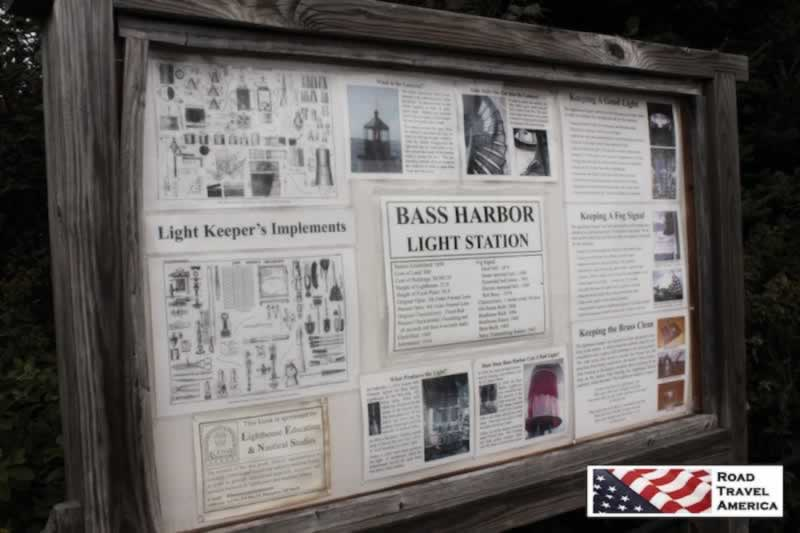 Bass Harbor Light Station sign and map
