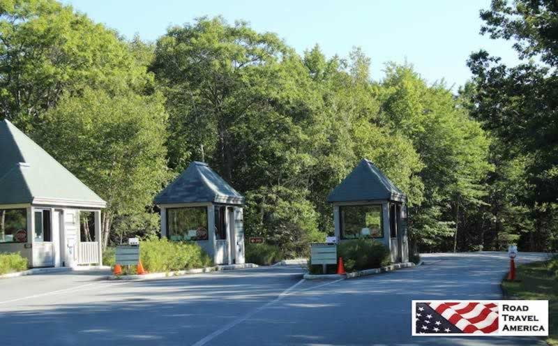 Entrance to Acadia National Park in Maine
