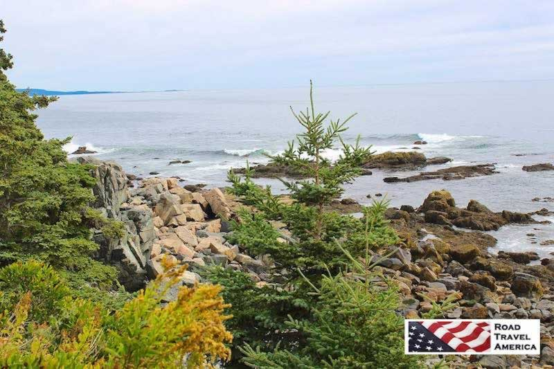 Rugged Atlantic coastline near Bar Harbor