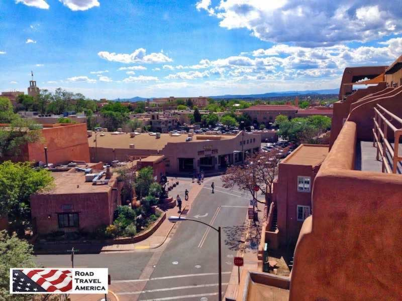 View of Santa Fe looking west from La Fonda on the Plaza