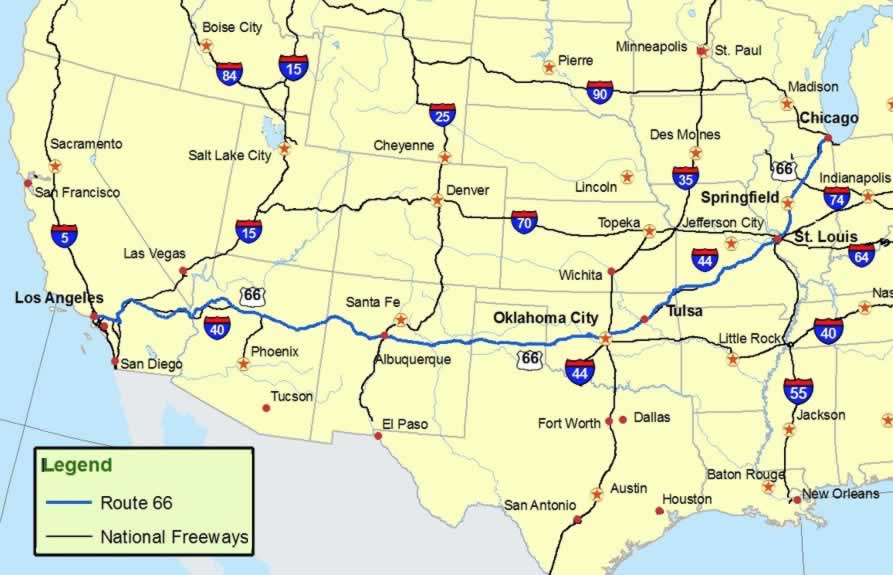 Map Us Routes - Us map of interstates