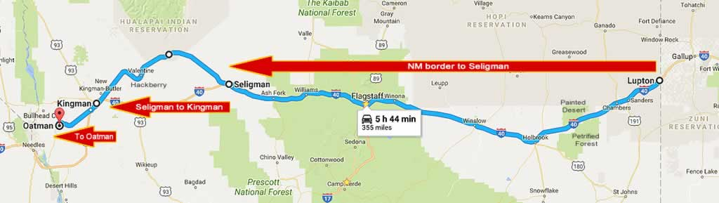 Travel Historic Route Across Arizona With Stops In Winslow - Original route 66 map