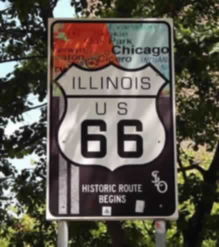 Historic Route 66 begins in Chicago, Illinois