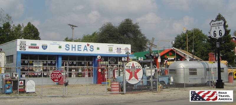 Shea's in Springfield Illinois, along Historic Route 6