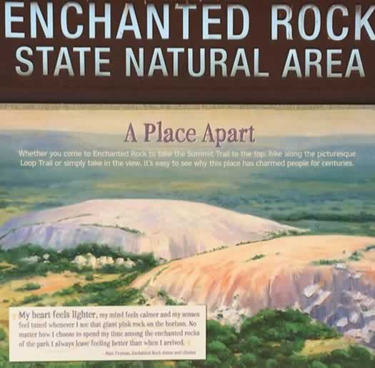 Enchanted Rock State Natural Area near Fredericksburg