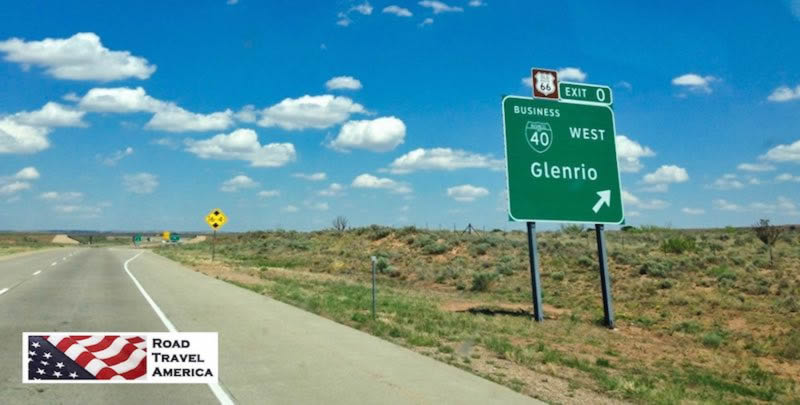 Present day Exit 0 from I-40 to Glenrio, on the Texas - New Mexico border