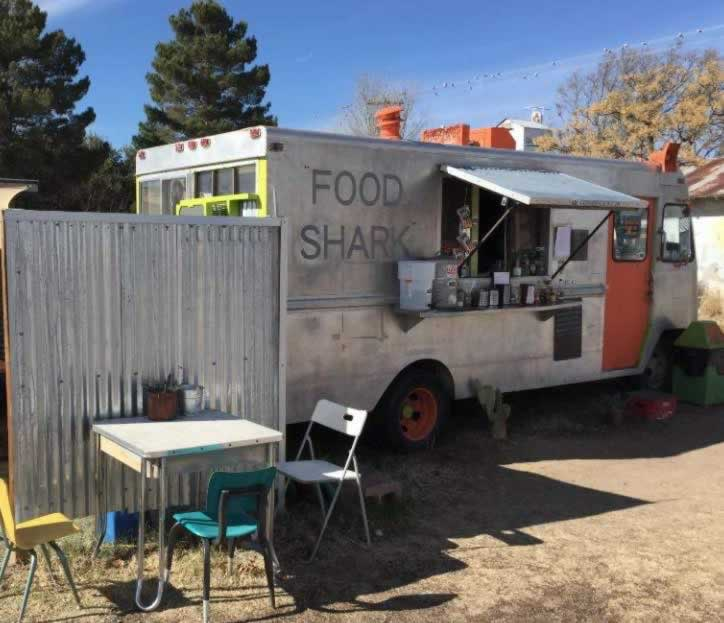 The well known Food Shark in Marfa