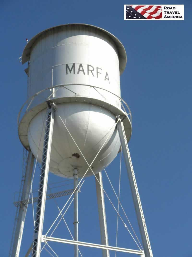 The City of Marfa water tower