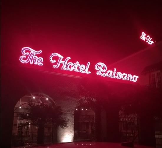 Night and neon ... at The Hotel Paisano in Marfa