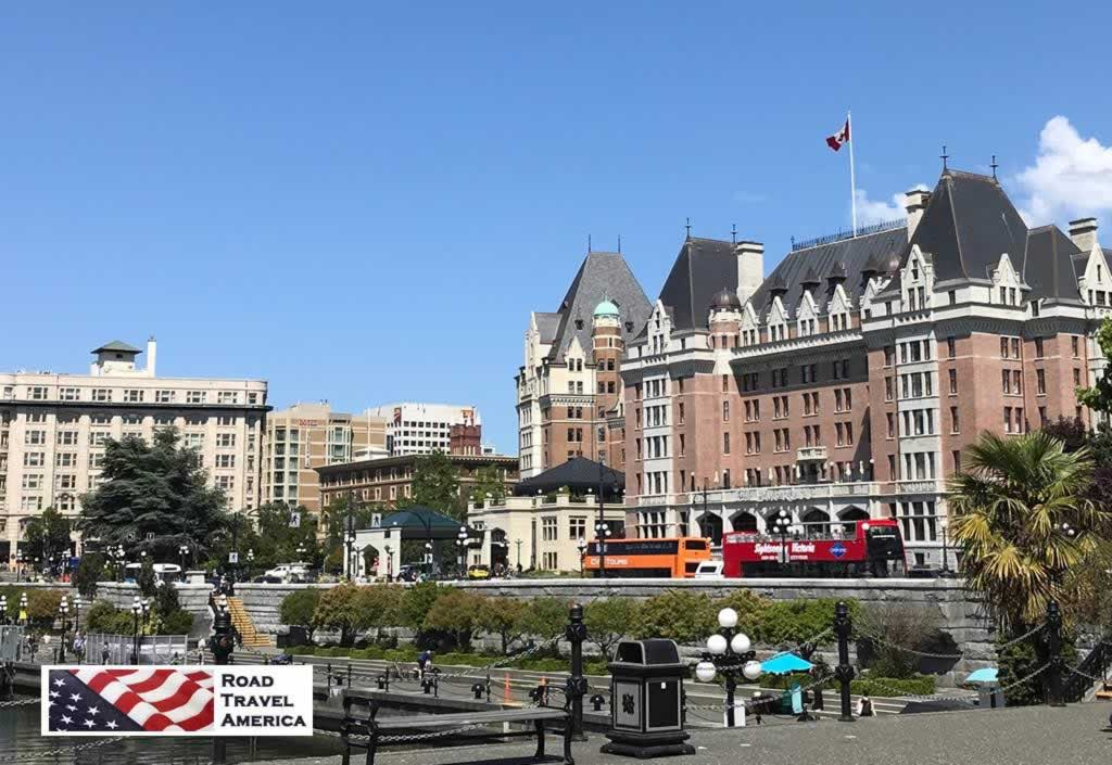 The Victoria waterfront, with the Empress Hotel to the right