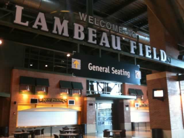 Inside the Lambeau Field Atrium in Green Bay, Wisconsin