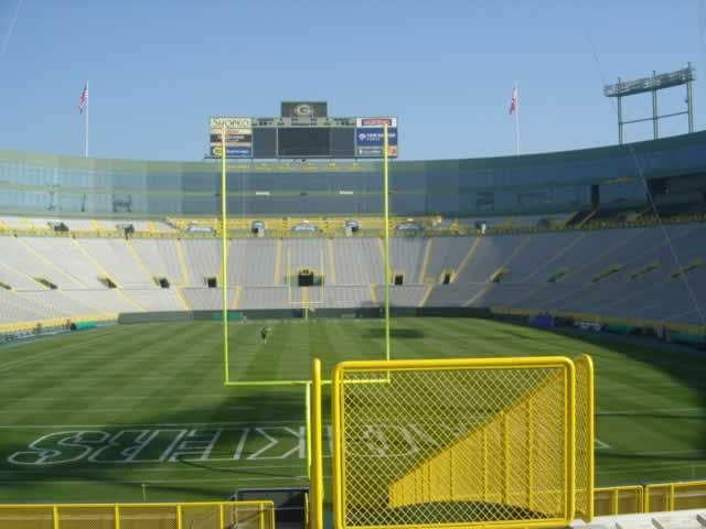 Lambeau Field, home of the Green Bay Packers of the NFL