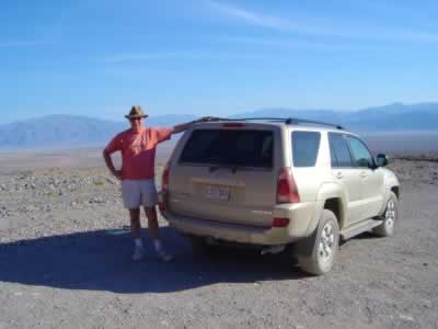 Road Travel America staff takes a break while touring Death Valley National Park in California
