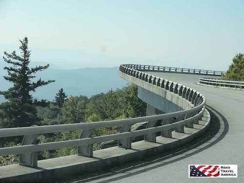 Making the turn while driving on the famous Linn Cove Viaduct