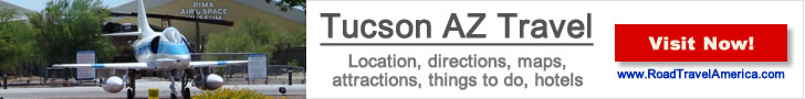 Visiting the Kingman Airport and staying in Tucson? Click for details about Tucson lodging options, attractions and maps